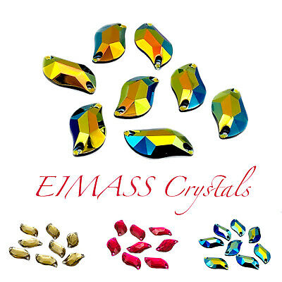 Random Shape EIMASS® Sew or Glue on Resin Crystals, Flat Back Gems for Costumes