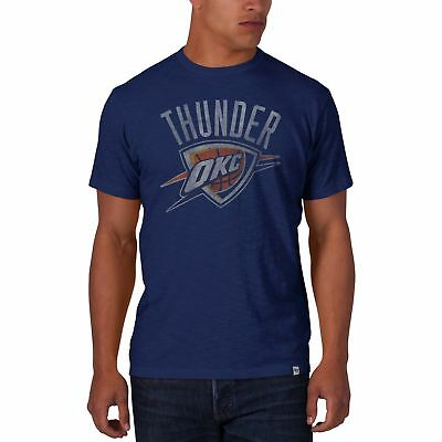 NEW Oklahoma City Thunder Blue Scrum Tee by 47 Brand