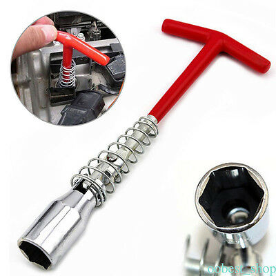 Spark Plug Removal Tool 16mm T-Bar T-Handle Flexible Spanner Socket Wrench 4-16