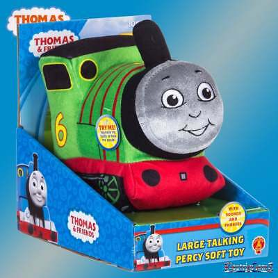 Thomas & Friends - Large Talking Percy Plush Soft Cuddly Toy with Sound