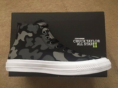 NEW Converse Chuck Taylor All Star II Camo Hi Top Trainers Mens Womens Unisex