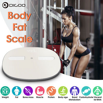 Digoo Bluetooth Smart Electronic Body Scale Weight Body Fat BMI for iOS Android