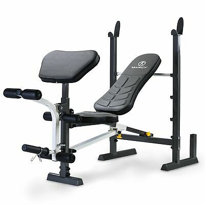 Marcy MWB-20100 Folding Standard Weight Bench and Press Rack - Incline / Decline