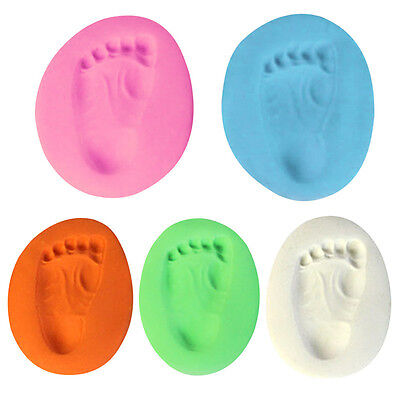 6 Colors Baby Care Drying Soft Clay Kids Handprint Footprint Imprint Kit Casting