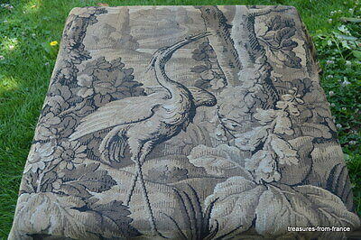 PAIR LARGE ANTIQUE FRENCH TAPESTRY CHATEAU CURTAIN DRAPES c1800