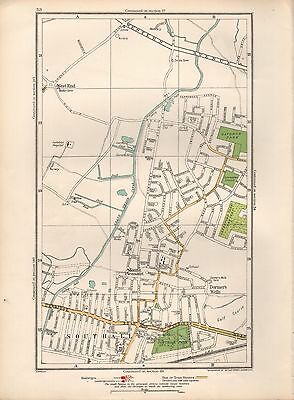 1936 Large Scale Map -  London Mount Pleasant Dormer's Wells Southall Ravenor Pa