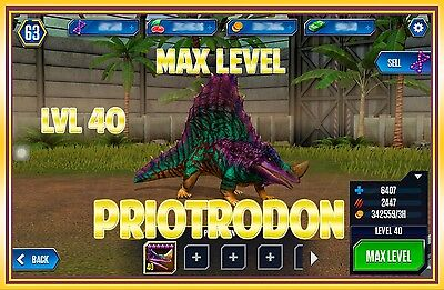 Jurassic WORLD The Game Builder MAX LEVEL PRIOTRODON package Android iOS park