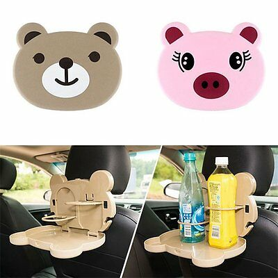 Multifunctional Lovely Cartoon Design Folding Car Food Tray Dinning Table Zz