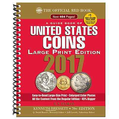 2017 Red Book Of US Coins Large Print Softcover Redbook IN STOCK & SHIPPING