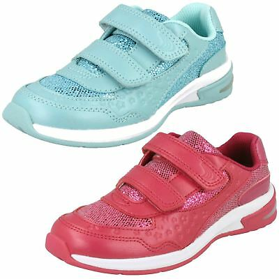 Sale Clarks Girls  Leather Trainers-Piper Play