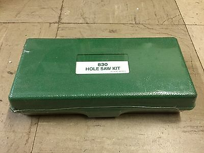 "New Greenlee 830 Hole Saw Kit 1/2"" - 2"" Bi-Metal NOS"