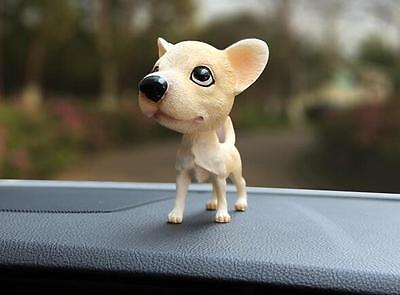 Chihuahua Dog Bobbing Head BobbleHead Doll Toy Car Home Ornaments Decor NEW