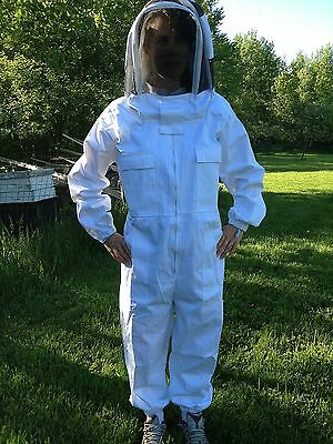 Full Bee keeping Suit, Heavy Duty NEW! size XL fencing style hood