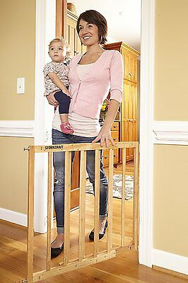 Baby Gates For Stairs With Swing Door Pet Supplies For Dogs Safety 25 to 42.5 W