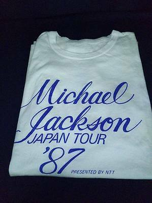 Michael Jackson Japan Tour '87 Official BAD Tour T-shirt Japan White EX+++