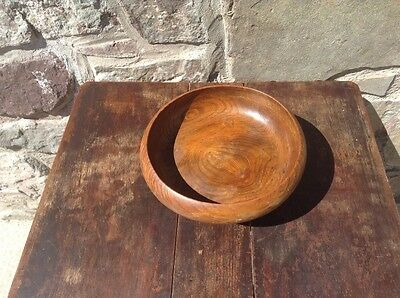 vintage oak fruit bowl