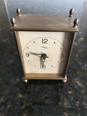 Vintage Swiss Imhof Reuge Music Alarm Clock  Dial Miniature Parts Or Restore