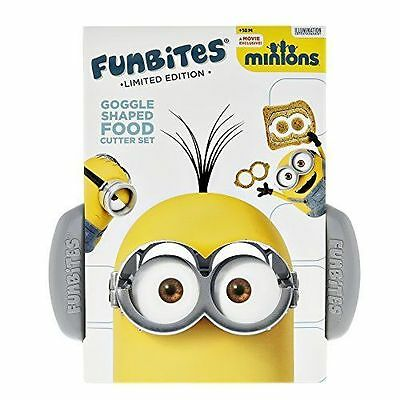 FunBites Food Cutter Set - Minions Goggles Silver NEW W FREE SHIPPING LOOK HERE