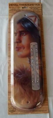 NEW Indoors or Outdoors Metal Wall Thermometer of an Indian