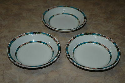 """Alfred Meakin - England - Pattern Dera? - 5"""" Berry Bowls (3) with flaws"""