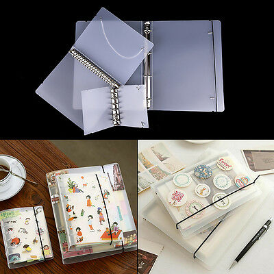 PP Cover for Notebook File Folder 6Holes Ring Binder Spiral A4 A5 A7 RefillableO