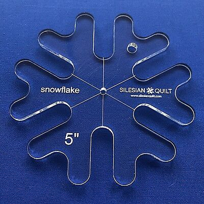 Quilting Template: Template SNOWFLAKE 5 inches