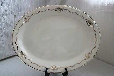 "Edwin M Knowles - ADAMS - U.S.A. Semi Vitreous - 15 3/8"" Oval Serving Platter"