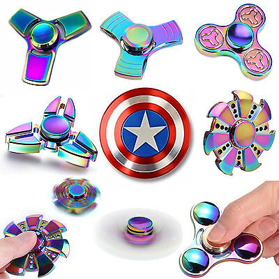 Finger Fidget Spinner Hand Focus Spin Aluminum EDC Bearing Stress Toys UK SELLER