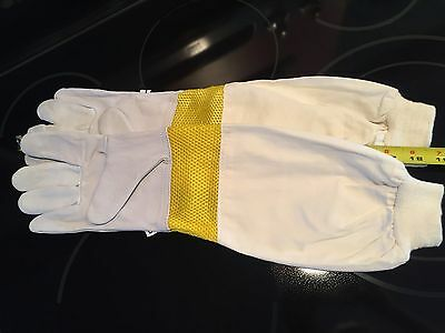 Vented Beekeeping Gloves, soft goatskin leather, NEW with free shipping!