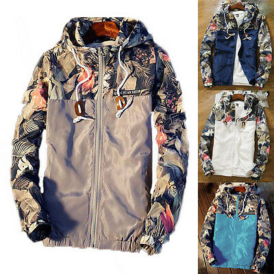 Mens Hoodies baseball uniform jacket Flora hooded Sports hoodie coat Windbreaker