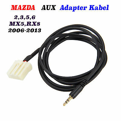 Mazda AUX Adapter Kabel Cable für Mazda 2006-2013  2 , 3 , 5 , 6 , MX 5 , RX 8
