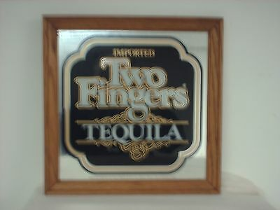 Two Fingers Tequilla Liquor  Mirror 14 X 14  Framed