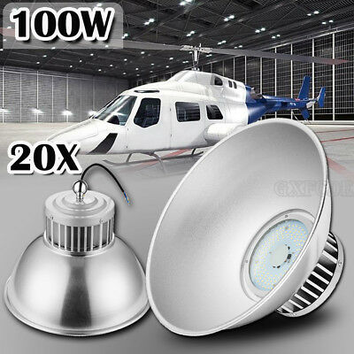 20x 100W LED High Bay Lamp Commercial Warehouse Industrial Factory Shed Lighting