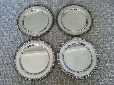 "Set of 4 Oneida 7 1/2"" Silver Plates - Silverplate Platters"