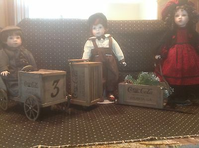 """Franklin Mint Coca-Cola Heirloom Collector Doll  """"Danny, Megan and Kirby"""""""