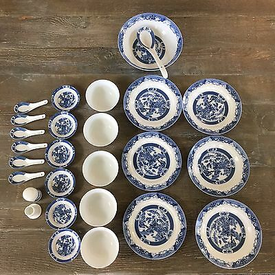 Jingdezhan Japanese Asian Design Dish Set Plates Bowls Spoons 24 Pieces