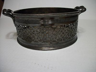Reed & Barton 0127 Silver Plated Filigree Bowl/basket With Handles