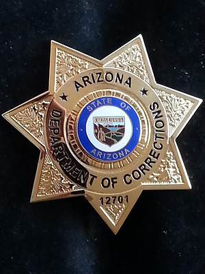 Obsolete Az Arizona Doc State Prison Corrections Police Sheriff Badge Htf Nos