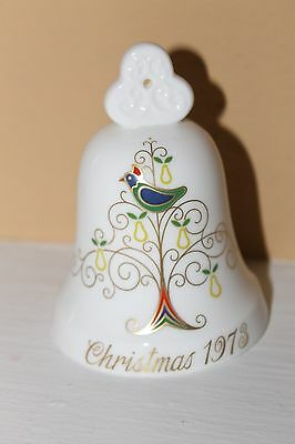 Beautiful Vintage Noritake Bone China Christmas 1973 Partridge Bell!