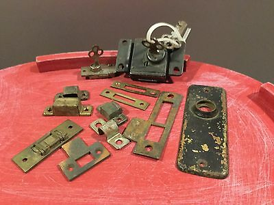 Vintage Lot of Door Locks, Catches and Parts