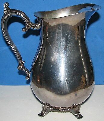 Wm Rogers & Son Silver plate Victorian Rose Water Pitcher 817