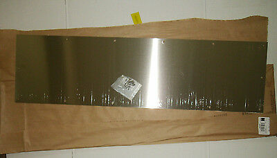 "New Hager Kick Plate Door Protection 10"" x 36"" Satin Stainless Finish 194S US32D"