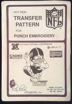 Punch Embroidery Transfer Hot Iron Pattern NFL D-NFLH-17 Giants - SHIPS FREE