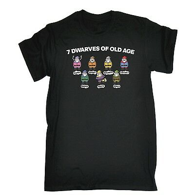 Mens 7 Dwarves Of Old Age Funny Joke Adult Humour T-SHIRT birthday