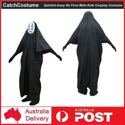 Spirited Away No face male Cosplay Costume Masks Gloves Halloween Costume Party