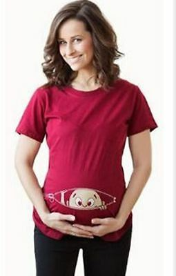 Maternity t-shirt  cotton Tee Blouse garment for nursing mothers pregnancy t-shi