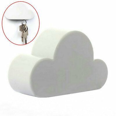 Fashion White Unique Novelty Cloud Shape Magnetic Key Holder Home Keychain Xx