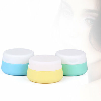 Round Shape Silicone Travel Cosmetic Box Eyeshadow Makeup Face Cream Containerxx