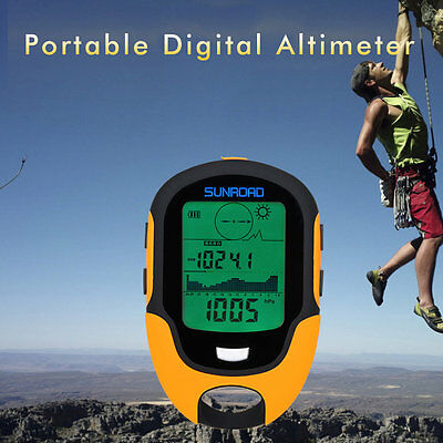 Multifunctional Fr500 Portable Digital Altimeter Outdoor Use Barometer Device Xx