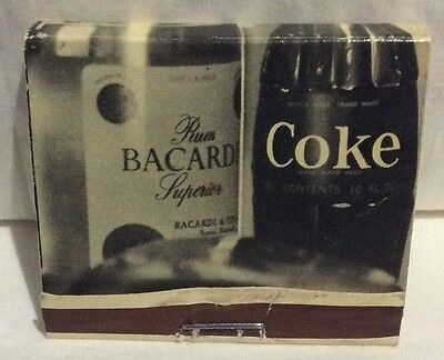 Bacardi And Coke Matchbook. Rum. Coca Cola Collectable